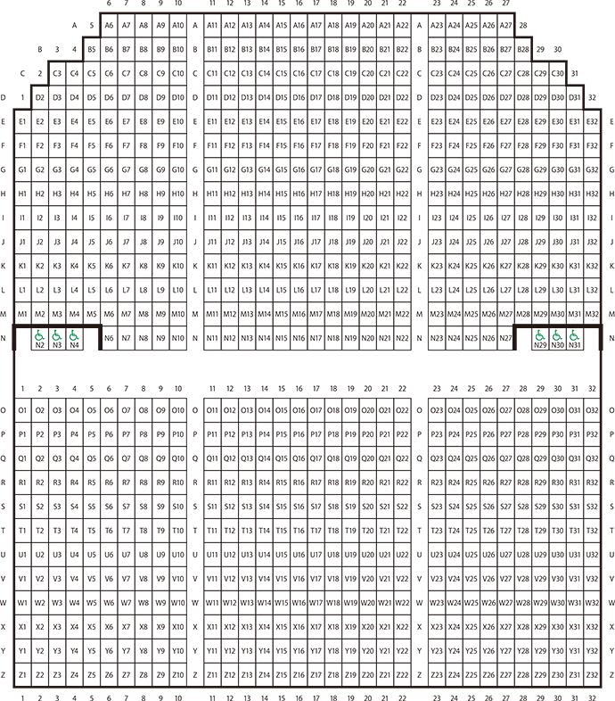 半九ホール座席表